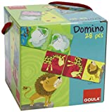 Goula- Domino Animales Selva 28 Piezas, (Diset 53416)