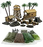 WWG Jungle Warfare Kit 5 – Campamento Militar en DM, Resina y follaje 28mm/Heroica...