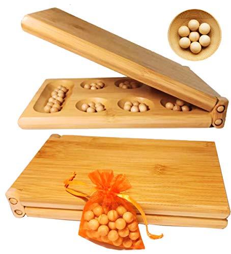 Toys of Wood Oxford TOWO Juego de Mesa Mancala - Juego de Mesa Kahala con Tablero de...