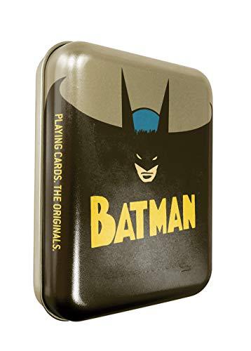 Cartamundi DC Comics Batman Juego de Cartas en Lata Retro en Relieve, Metal