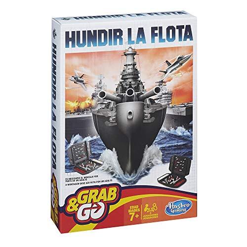 Hasbro Gaming- Hundir la Flota Viaje Gaming Travel Juego de Estrategia, Multicolor...