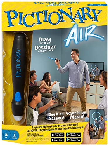 Mattel Games Pictionary Air Juego de dibujo familiar, enlaces a dispositivos...