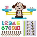 Vintoney Juguete Educativo de Números, Mono Juguete Matemático de Equilibrio,...