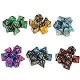 Moncolis Dados Poliedricos 6 x 7 (42 Piezas) Dados de Juego para Dungeons and Dragons...