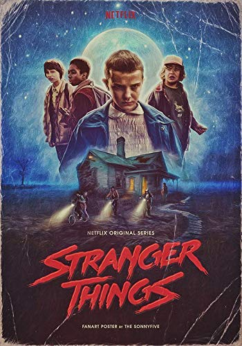 Stranger Things Film Movie Póster de Pared Metal Creativo Placa Decorativa Cartel de...