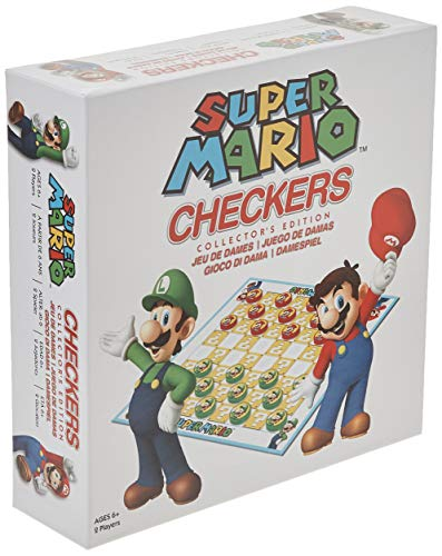 USAopoly USOCK005191 Bros Super Mario Checkers, colores variados , color/modelo...
