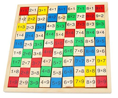 Toys of Wood Oxford TOWO Tabla de multiplicación de Madera - Tablero de Juego de...